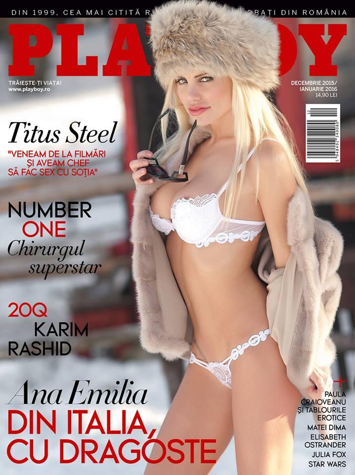 Copertina di playboy Romania con Emy Danciu Vivian realizzata dal fotografo di moda Francesco Francia